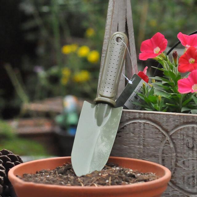 园艺工具  军绿塑柄、海绵套宽窄铲