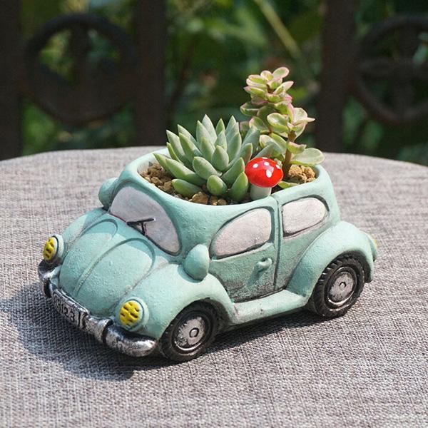 园艺花盆  水泥仿粗陶瓷花盆