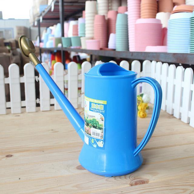 园艺喷壶  柱形塑料洒水壶  方便实用家庭装 长嘴喷壶